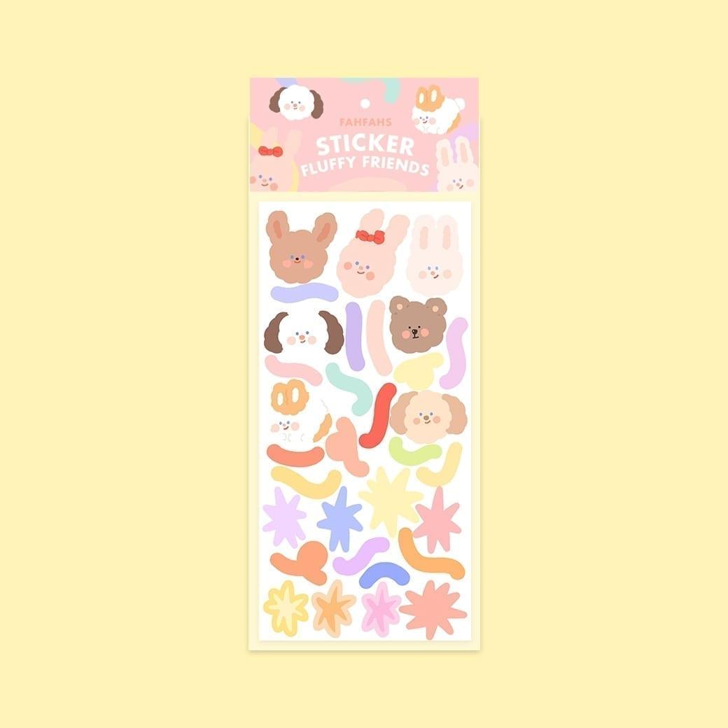 sticker fluffy friends cover