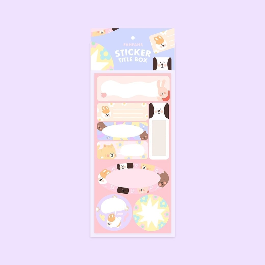 sticker title box cover