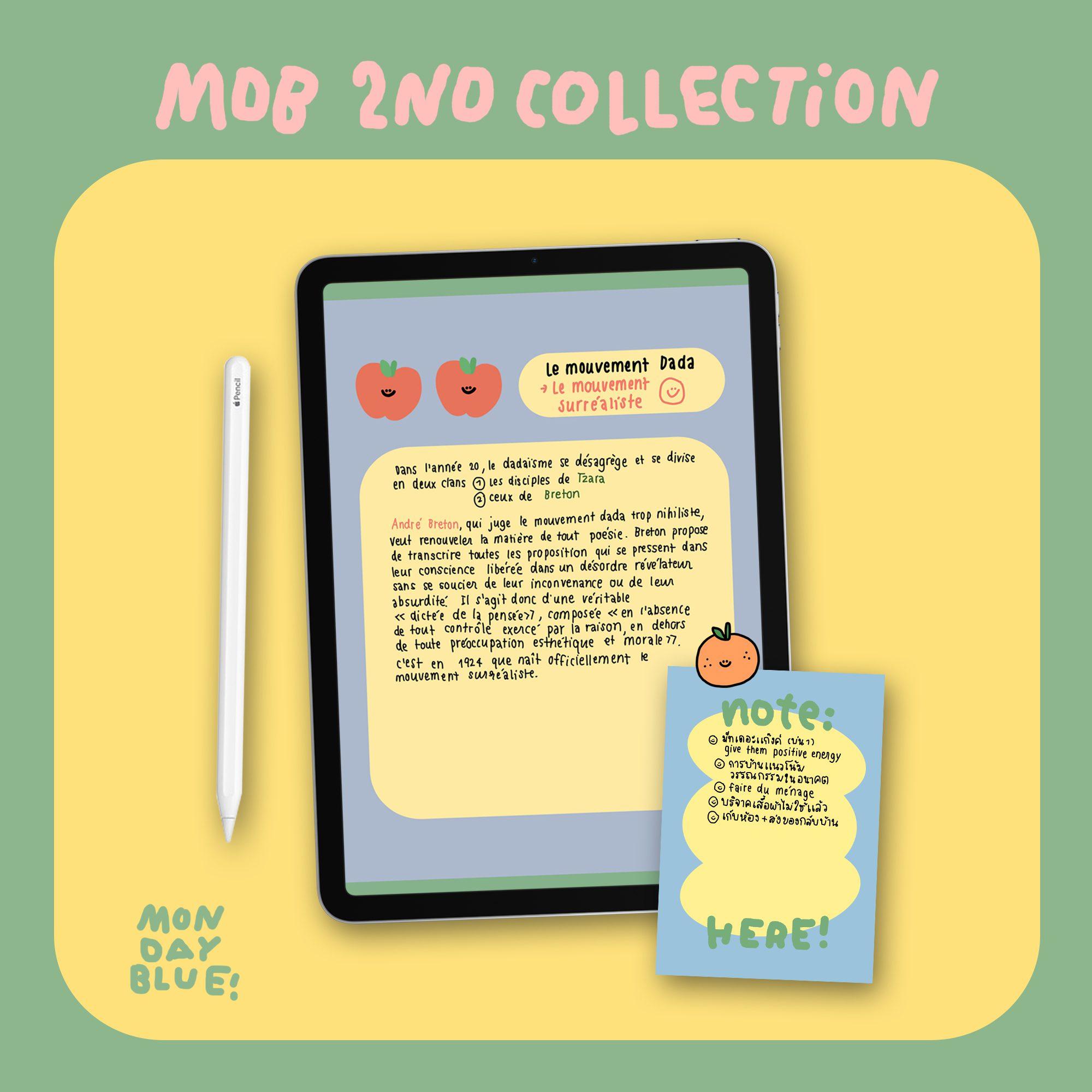 MONDAYBLUECLUB GOODNOTES SET (cuteness) planner memo sticker