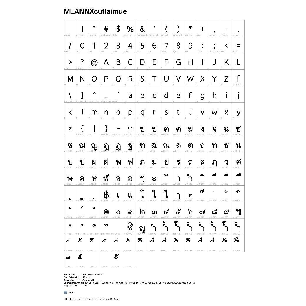 MEANNX | FONT (cutlaimue)