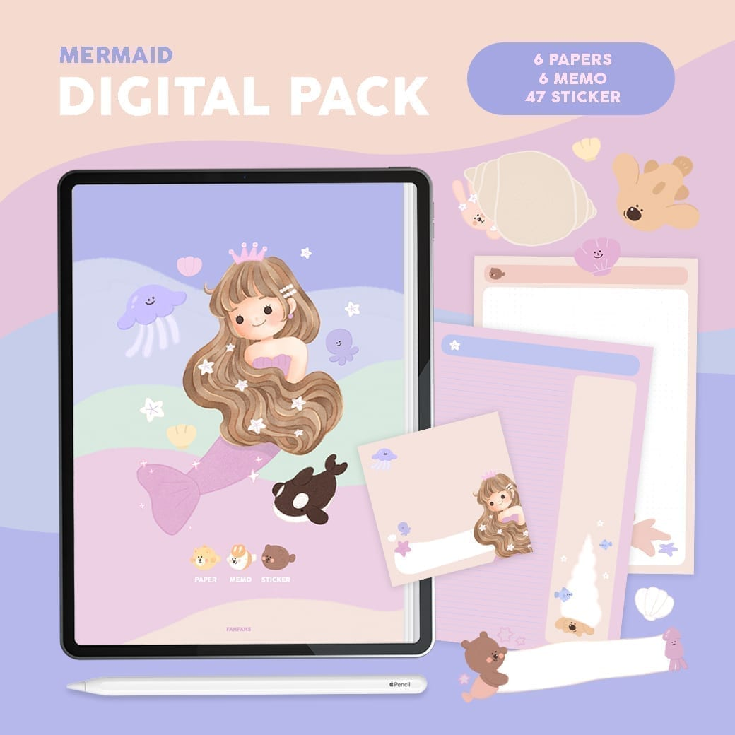 FAHFAHS | GOODNOTES DIGITAL PACK (MERMAID)