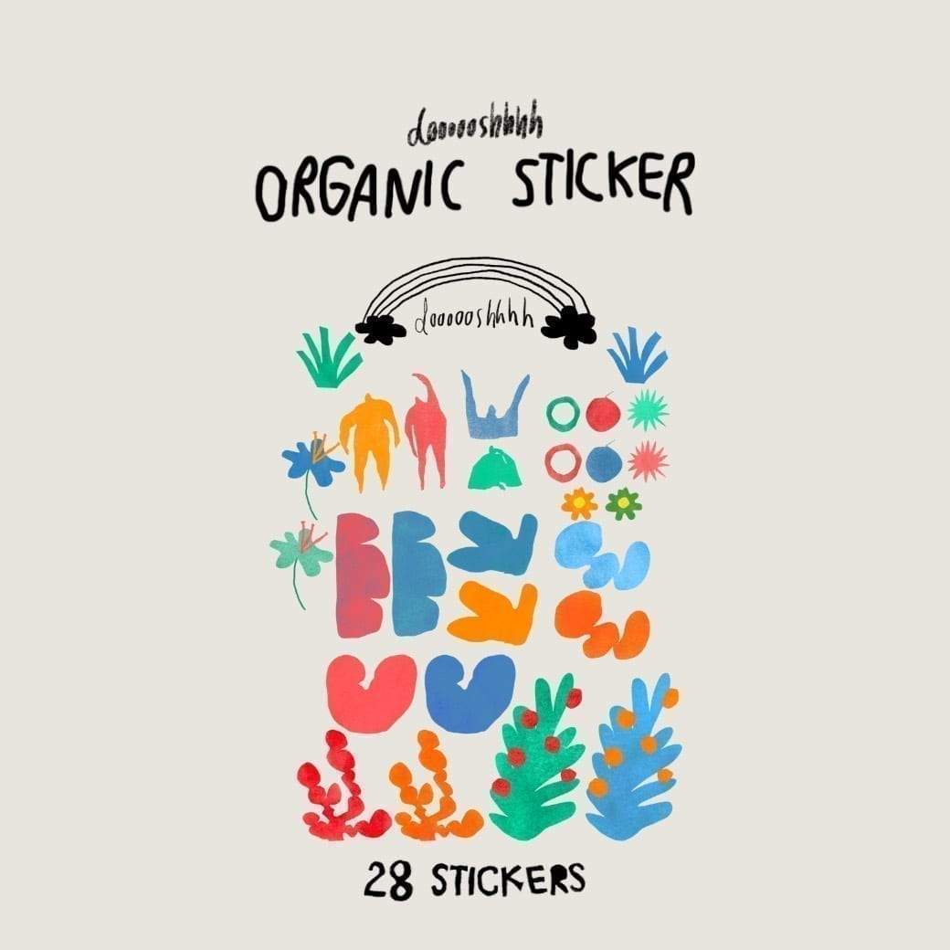 DOOOOOSHHHH GOODNOTES DIGITAL STICKER (ORGANIC STICKER)