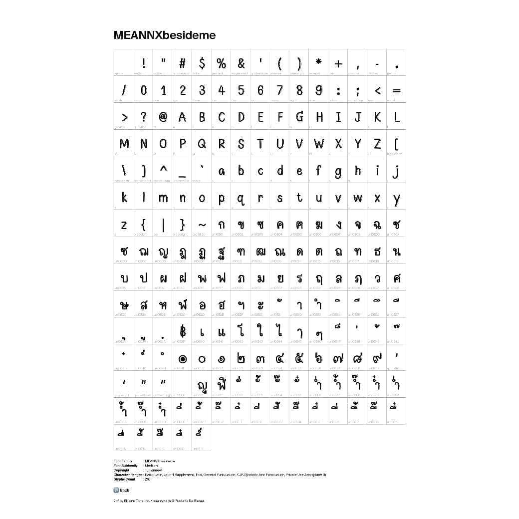 MEANNX | FONT (besideme)
