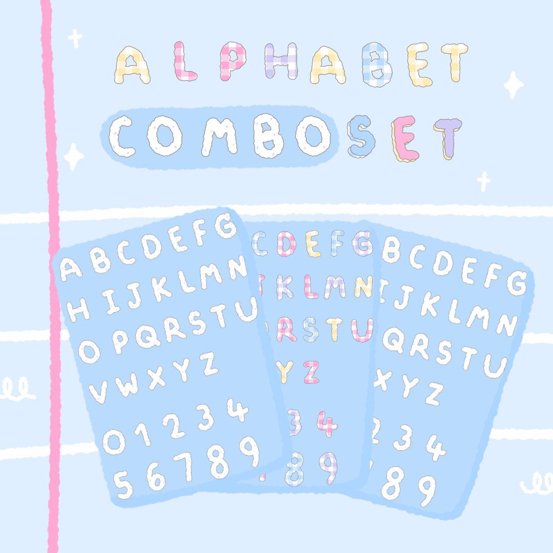 MINEBXRRY | GOODNOTES ALPHABET COMBO SET (cloudy)