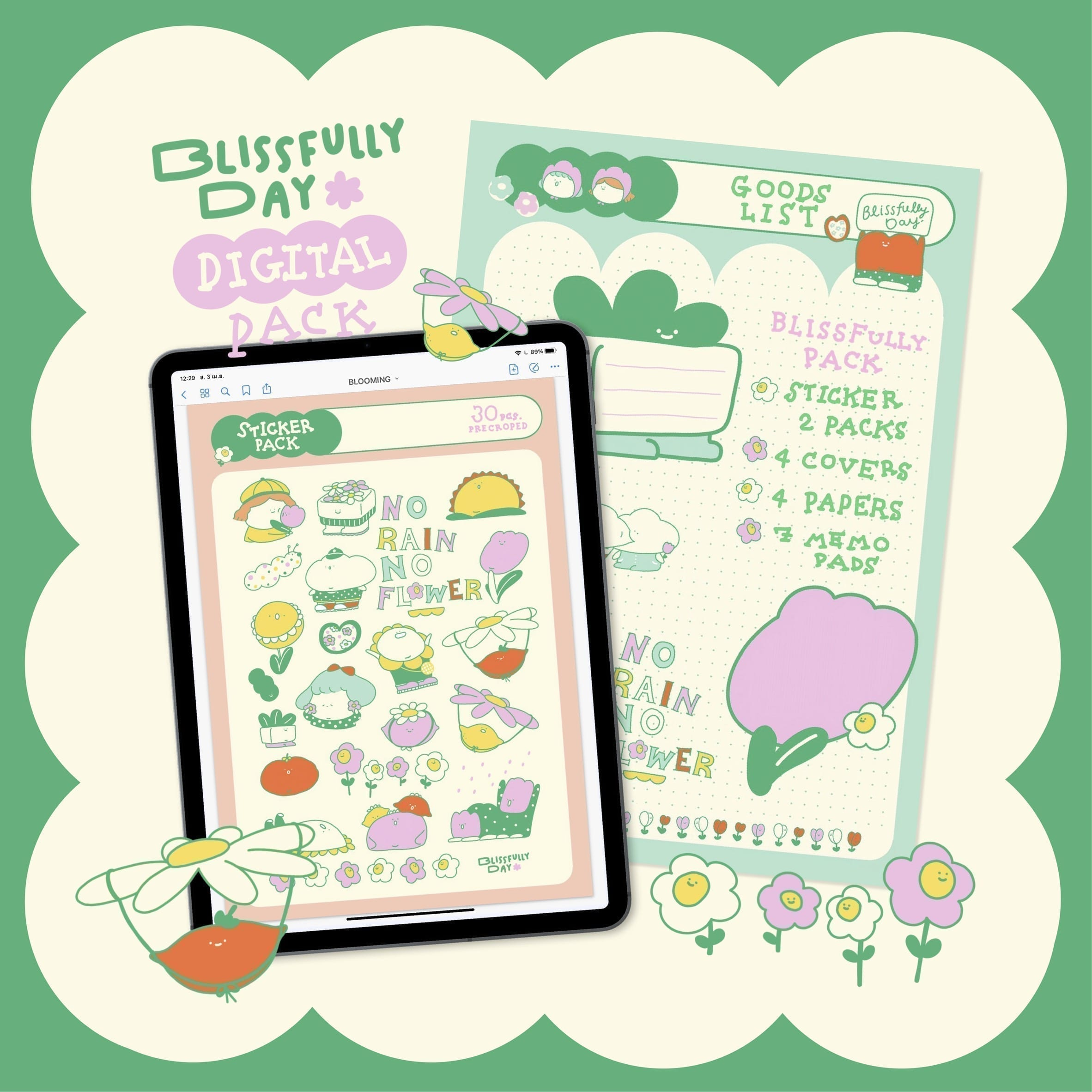 BLISSFULLY.DAY   GOODNOTES DIGITAL PACK (BLOOMING)