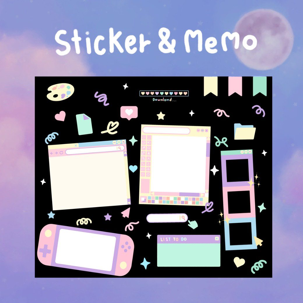 SILIN GOODNOTES DIGITAL STICKER & MEMO